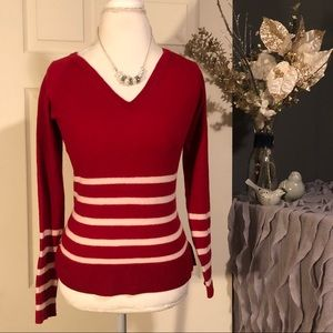 🐊Lacoste Merino Wool Stripe Sweater Women's Sz 12